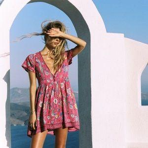 Spell Lovebird Mini Dress in Rose